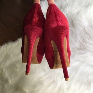 RANEE Shoes - RANEE SHIMMERY FUCHSIA STILETTO HEELS!